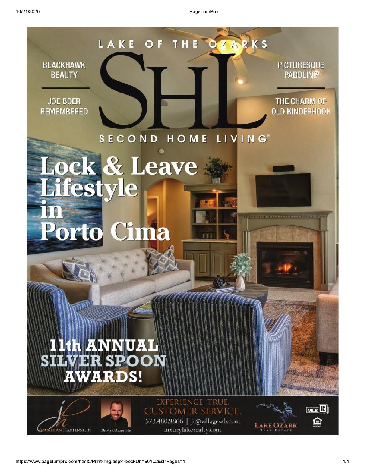 Second Home Living Magazine at Lake of the Ozarks